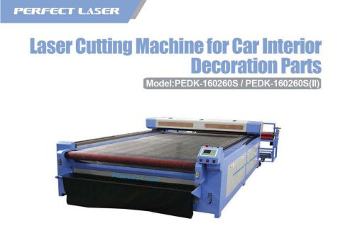 laser cuutting machine for car interior deciration parts PEDK-160260