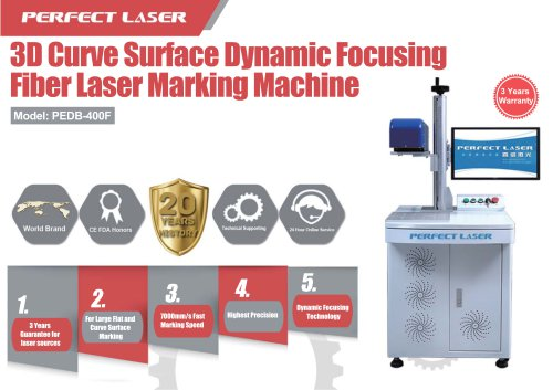 Perfect Laser 3D curve surface dynamic focusing fiber laser marking machine PEDB-400F