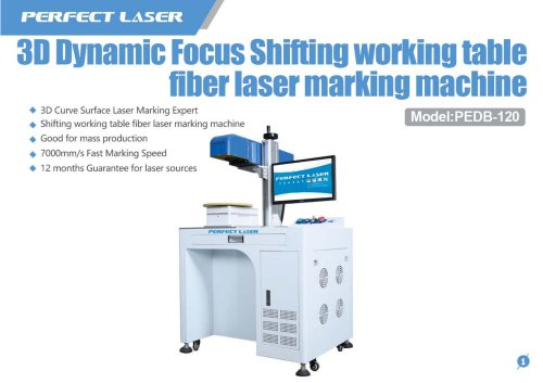 Perfect Laser-3D Dynamic Shifting Table Fiber Laser Marking Machine PEDB-120