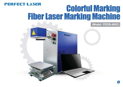 Perfect Laser-Colorful Marking Fiber Laser Marking Machine PEDB-400C