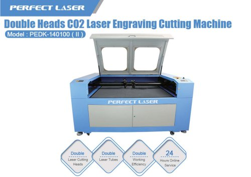 Perfect Laser double heads co2 Laser engraver  PEDK-140100II