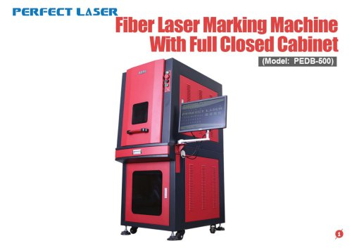 Perfect Laser-Fiber Laser Marking Machine with Full Enclosed Cabinet PEDB-500