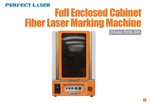Perfect Laser - Full Enclosed Cabinet Fiber Laser Marking Machine PEDB-200