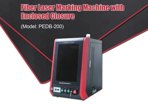 Perfect Laser-Full Enclosed Cabinet Fiber Laser Marking Machine PEDB-200