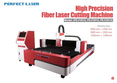 Perfect Laser-high percision fiber laser cutting machine PE-F3013 3015