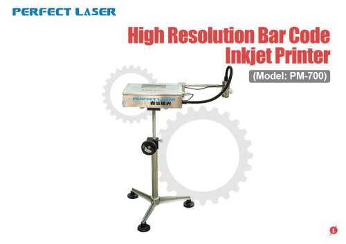 Perfect Laser - High Resolution Bar Code Inkjet Printer PM-700