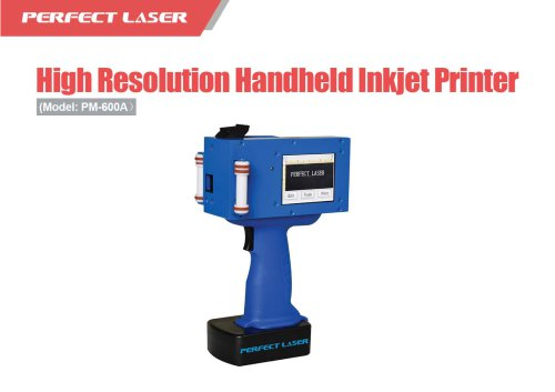 Perfect Laser - High Resolution Handheld Inkjet Printer PM-600A