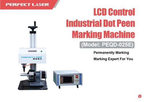 Perfect Laser - LCD Control Dot Peen Marking Machine PEQD-025E