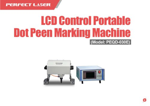 Perfect Laser - LCD Control Portable Dot Peen Marking Machine PEQD-030E
