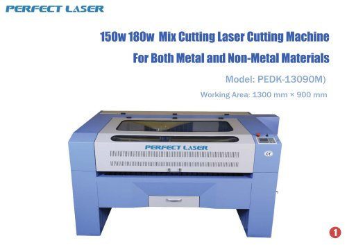 Perfect Laser-Mixed Cutting Laser Cutting Machine PEDK-13090M