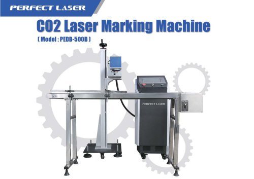 Perfect Laser Onflying CO2 laser making machine PEDB-500B