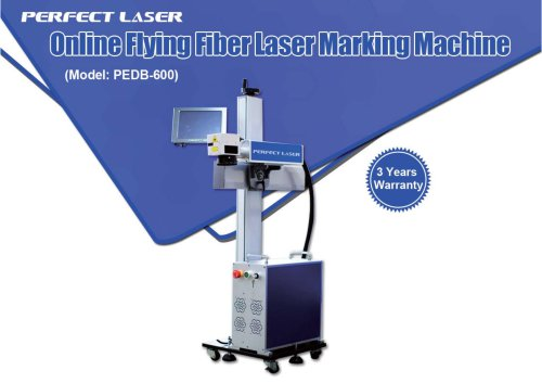 Perfect Laser online flying fiber laser marking machine PEDB-600