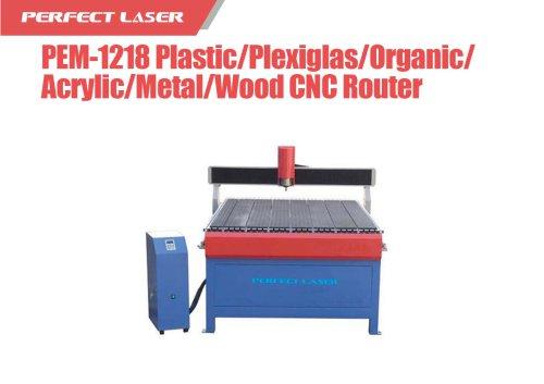 Perfect Laser - Plastic Plexiglas Organic Acrylic Metal Wood CNC Router PEM-1218