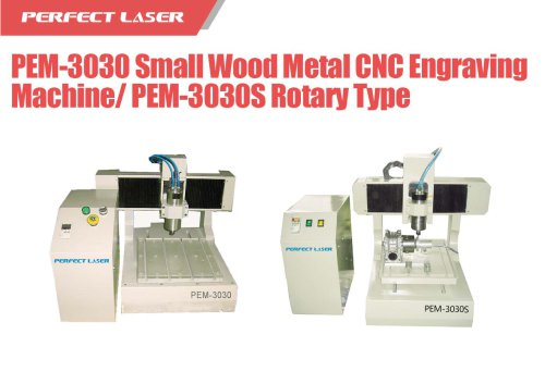 Perfect Laser - Rotary Small Wood Metal CNC Engraving Machine  PEM-3030S