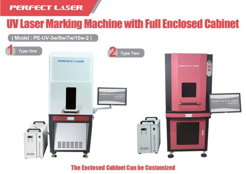Perfect Laser UV laser marking machine PE-UV-3w 5w 7w 10w