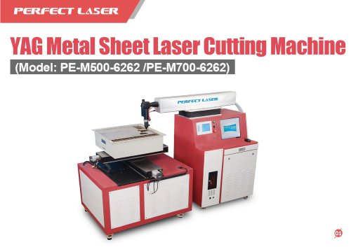 Perfect Laser - YAG Metal Sheet Laser Cutting Machine PE-M500-6262/PE-M700-6262