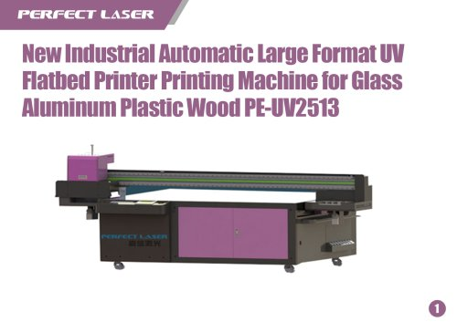 UV Flatbed Printer Printing Machine for Glass Aluminum Plastic Wood PE-UV2513