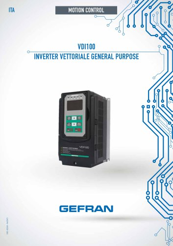 VDI100 - INVERTER VETTORIALE GENERAL PURPOSE
