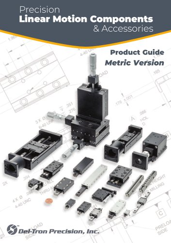 Precision Linear Motion product guide- Metric Version