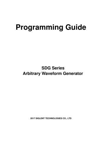 SDG Series Arbitrary Waveform Generator Programming Guide