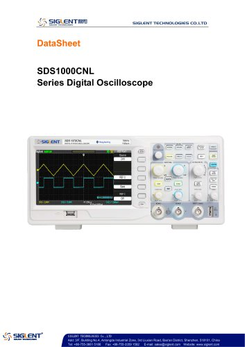 SDS1000CNL Series Digital Oscilloscope