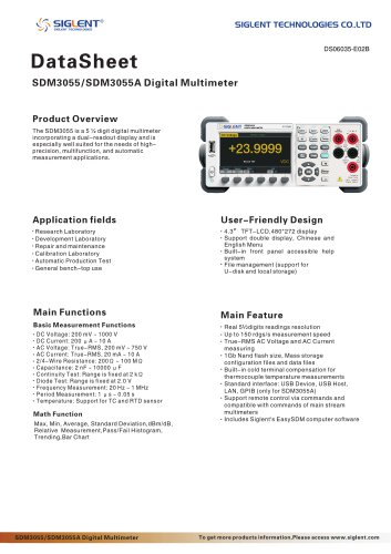 SIGLENT SDM3055/SDM3055A digital multimeter