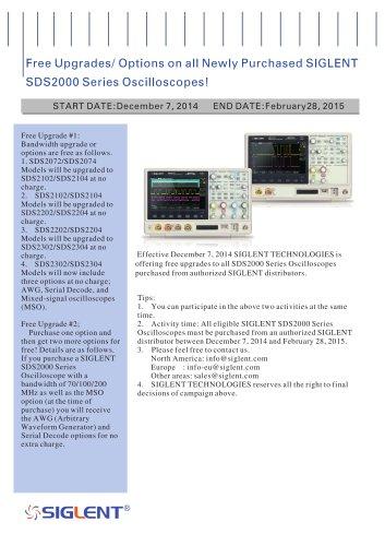 SIGLENT SDS2000 Series Oscilloscopes Promotion |  super phosphor oscilloscope | MSO