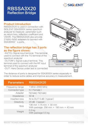 Siglent SSA3000X Reflection Bridge RBSSA3X20