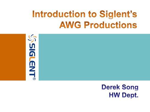 Siglent Waveform Generator Productions