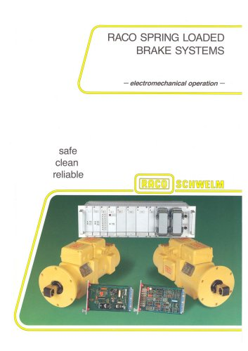 RACO´s Spring Brake Actuator System - The safe solution