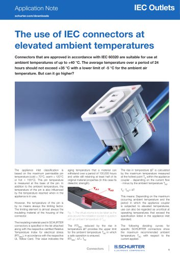 Application Note IEC connectors at elevated ambient temperatures