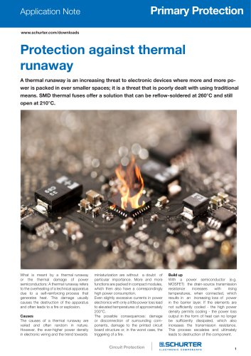 Application Note Thermal Runaway