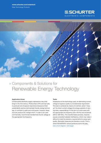 Components & Solutions for Renewable Energy Technology
