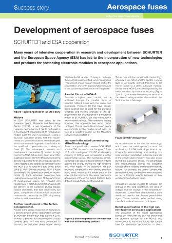 SCHURTER and ESA cooperation