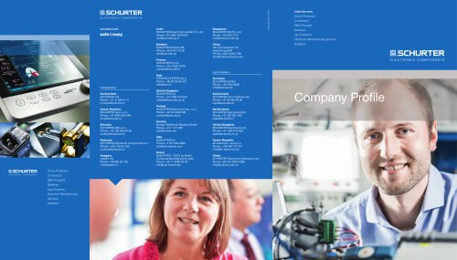 SCHURTER Company Profile