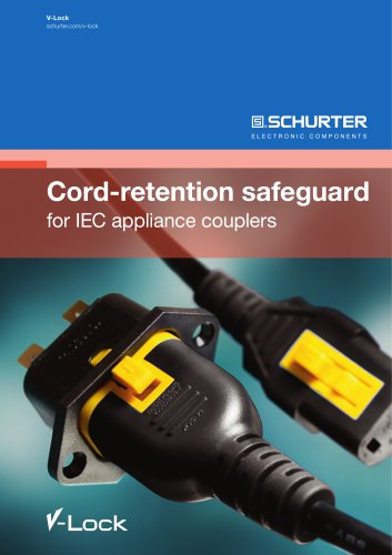 SCHURTER Cord-retention safeguard for IEC appliance couplers