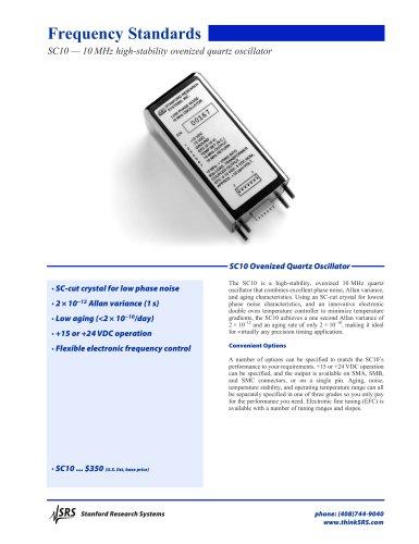 10 MHz Ovenized Quartz Oscillator