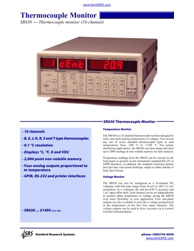 16 Channel Thermocouple Monitor
