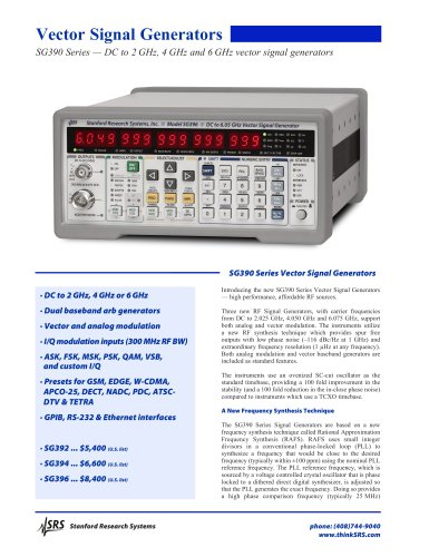 6 GHz Vector Signal Generator