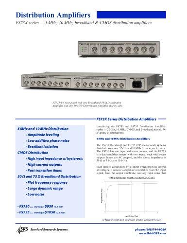Broadband 50 ? Distribution Amplifier