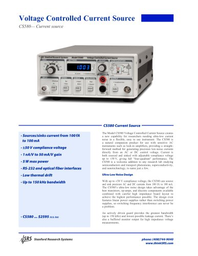 CS580 Voltage Controlled Current Source