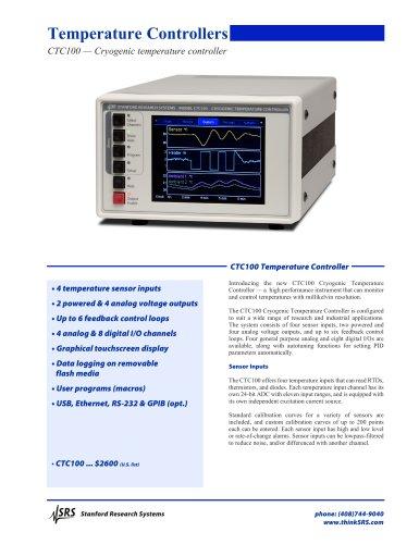 CTC100Cryogenic Temperature Controller