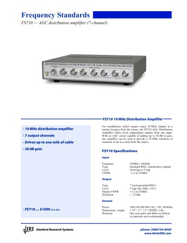 FS710Distribution Amplifier