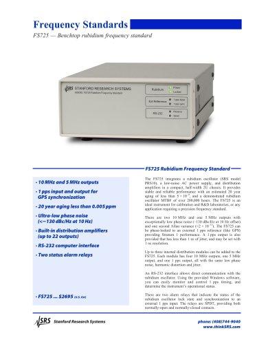 FS725 Benchtop Rubidium Frequency Standard