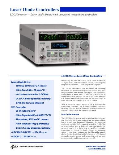 LDC500 Laser Diode Controller