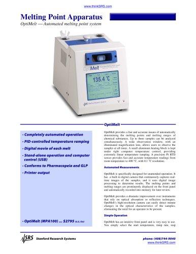 OptiMelt Automated Meling Point System