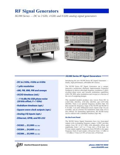 SG386 6 GHz RF Signal Generator