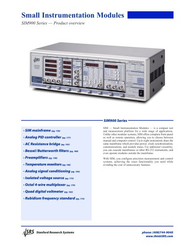 SIM SeriesSmall Instrumentation Modules