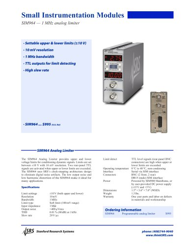 SIM964Analog Limiter