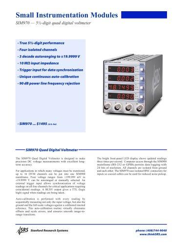 SIM970Quad Digital Voltmeter